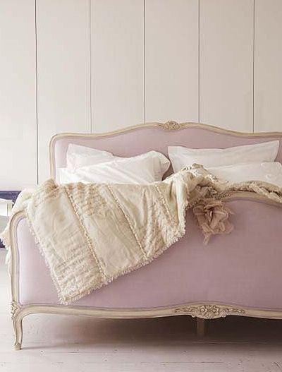 Simple white washed walls and cozy, bed in light colors. Cabin style, want it!                                                                                                                                                     More