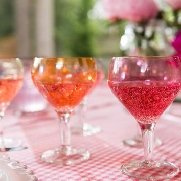 Youth gives love and roses. Age, friends and wine...Sparkling Rosé wine!