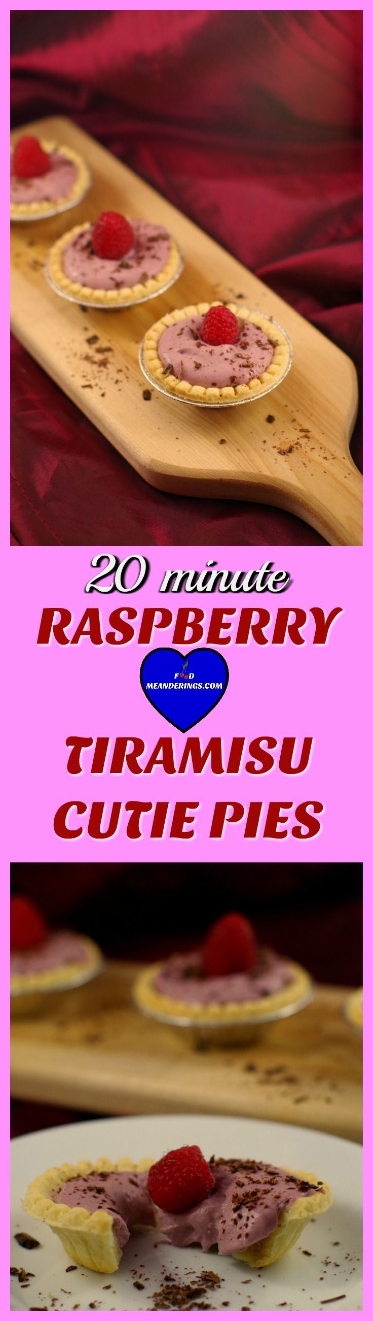 Make these Valentine's Day tarts for your cutie pie in 20 minutes flat! #valentinesday #desserts #dessertrecipes #pies #minidessert  #tiramisu #raspberry