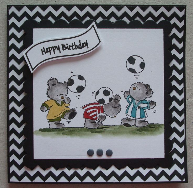 648 best cards lotv bears images on pinterest diy cards b111 hand made birthday card using lotv football bears stamp by linda fraser bookmarktalkfo Images