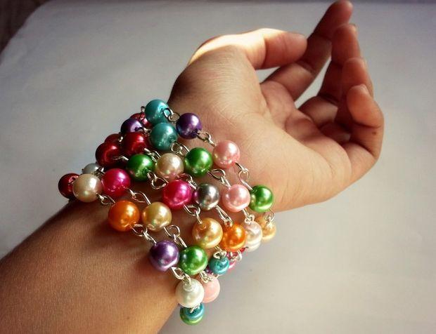 Rosary Beading Inspired Bracelet #jewelry #fashion #links
