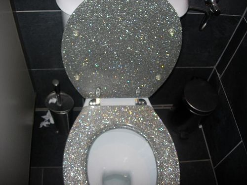 I WILL have a glittered toilet seat one day - maybe in