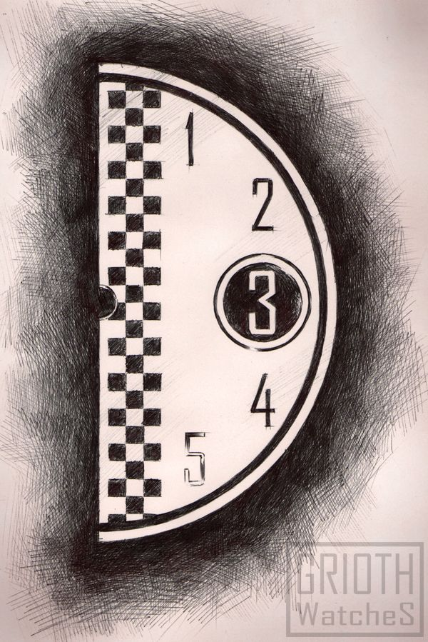 B-Quick rally watch by GRIOTH - dial project