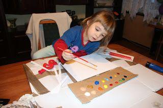 Ania mama Agnieszki: mała artystka i oczekiwanie na farby