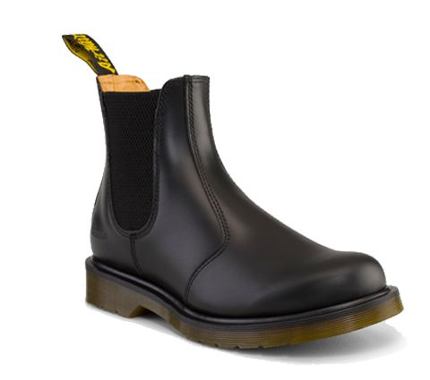 Our boots and shoes have become icons, recognised worldwide for their uncompromising looks, durability and comfort. These styles embody all that is true and unique to Dr. Martens. Pull-On Chelsea Boot Smooth; Dr. Martens original smooth leather Elastic gusset Classic Heel loop This is a Goodyear-welted product, the upper and sole are sewn together Dr. Martens air-cushioned sole offers good abrasion and slip resistance Care Instruction: Clean Away dirt using a damp cloth, allow to dry, apply…
