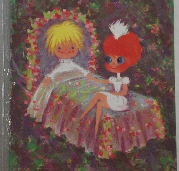Get Well Soon card nurse and patient by LostPropertyVintage