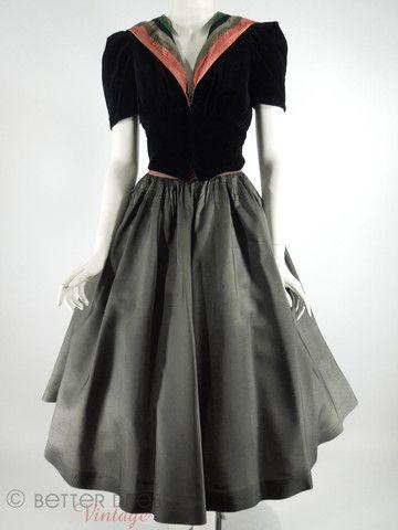 30s Hooded Jacket & Circle Skirt Set - sm-- OMG, a 1930s HOODIE!!!!