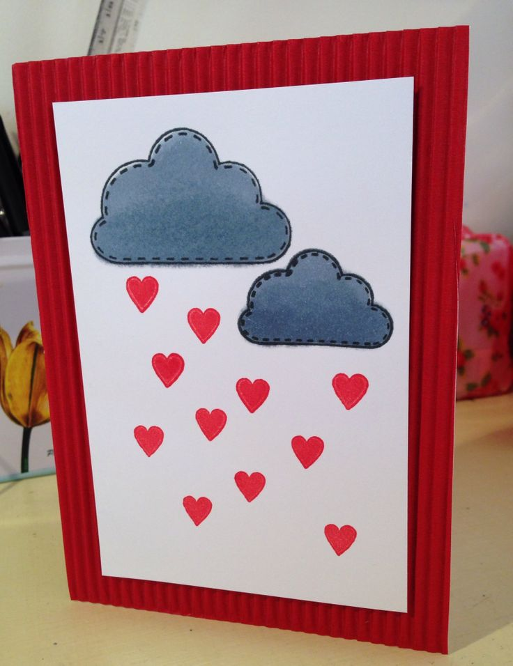 "Valentines day ""Let me shower you with LOVE"" card I made for the hubby!"