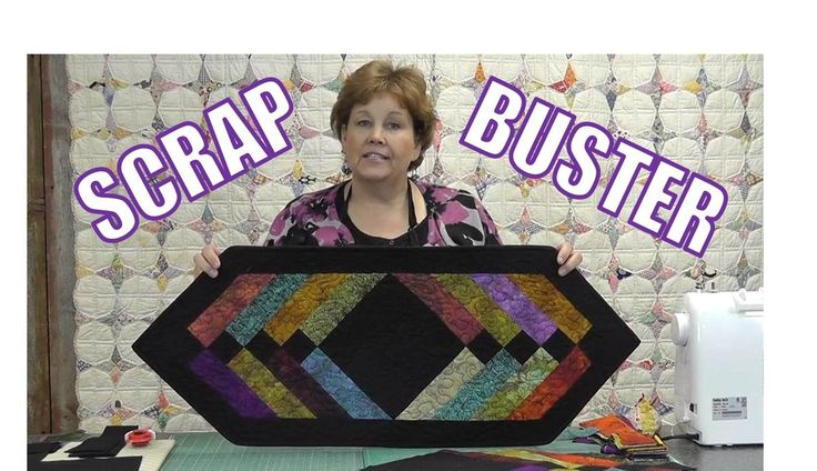 Easy Table Runner using mostly Scraps. Video Tutorial from Missouri Quilt Company