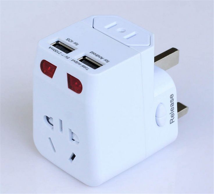 """Лучший продукт из Китая - купить """"ЕС AU Великобритания США Универсальный мировой путешествий AC питания штепсельная Вилка конвертер адаптер с 2 USB порт(1000PCSLot по DHL)"""" всего за 11000 долларов США."""