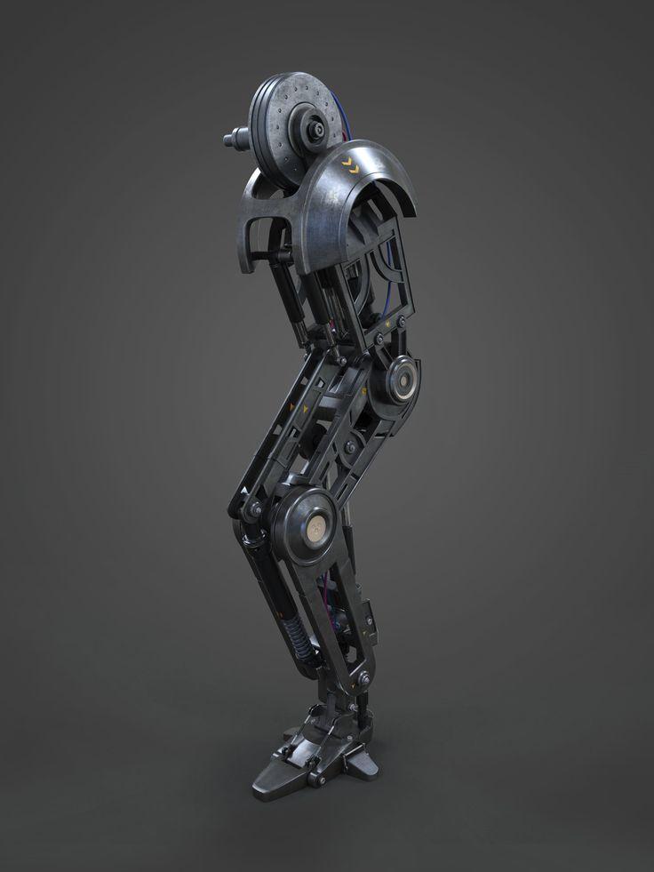 ArtStation - Mech Leg Design, Vicky Seauta