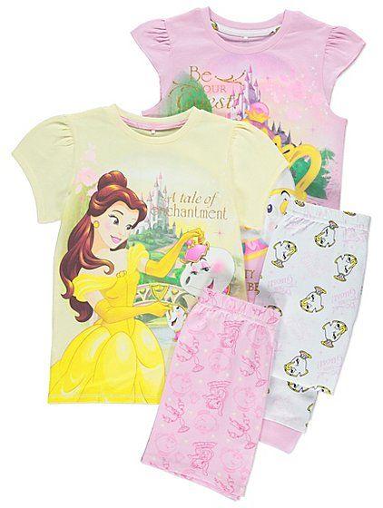 Disney Princess Beauty and the Beast 2 Pack Pyjamas  c99ef0ac5