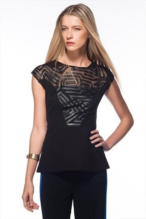 Siyah Bluz MLWAW153909 Milla by trendyol | Trendyol