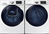Samsung ADD-A-WASH Pair Special-27 Front Load Laundry System with Innovative ADD-A-WASH Door & ELECTRIC Dryer (WF45K6500AWDV45K6500AW)