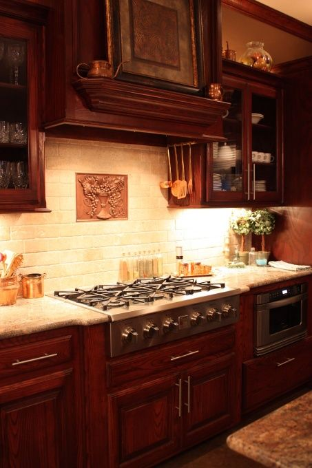 Nice backsplash and range, but they need a pot filler!