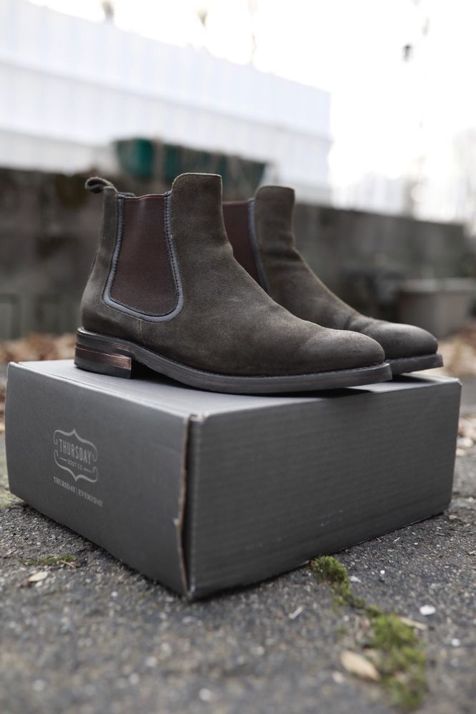 99365159b5 Mens Dark Olive Suede Duke 2.0 Chelsea Boot by Thursday Boots Worn Once  #fashion #clothing #shoes #accessories #mensshoes #boots (ebay link)