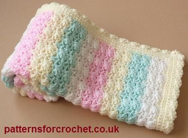 Free baby crochet pattern for candy afghan blanket from http://www.patternsforcrochet.co.uk/candy-afghan-blanket-usa.html #patternsforcrochet #freecrochetpatterns
