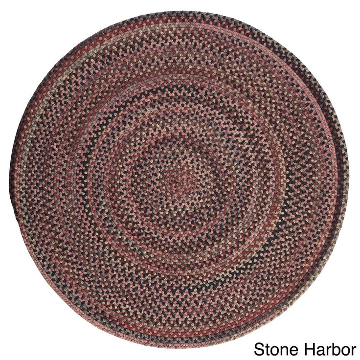 Colonial Mills Forester Multicolored Wool Braided Rug USA Made (7' Round) (Stone Harbor), Multi, Size 7'
