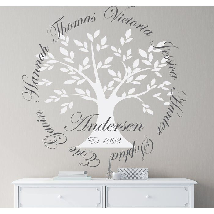 Personalized Family Tree Wall Decal Family Tree Wall Art Personalised Family Tree Family Tree Wall