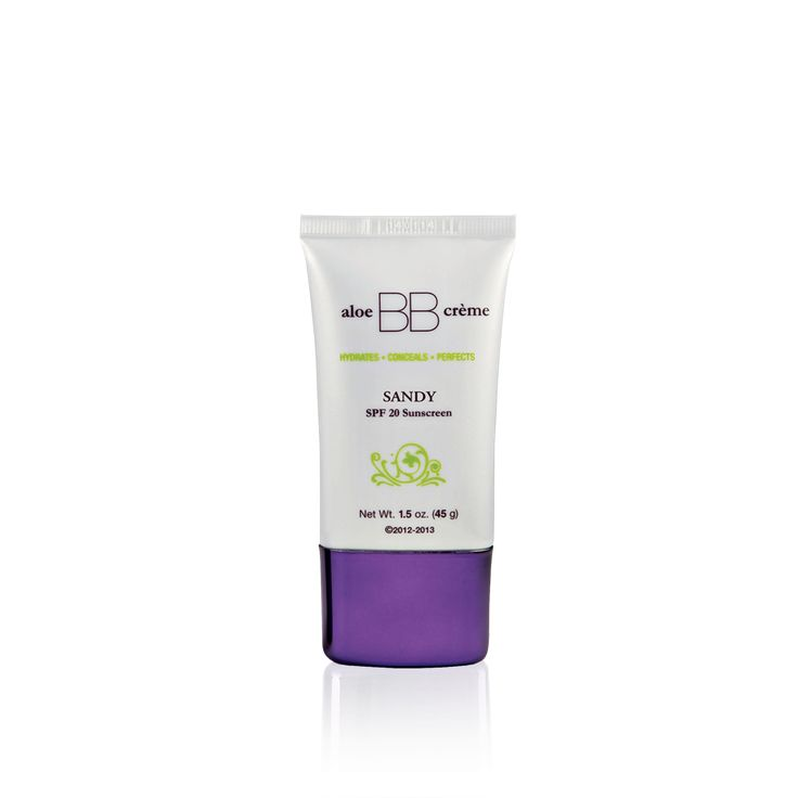 aloe BB cr?me Sandy with SPF 20 was created exclusively for flawless by Sonya? to hydrate, prime, conceal and offer sun protection creating a soft, luminous glow, leaving the skin looking natural and flawless.