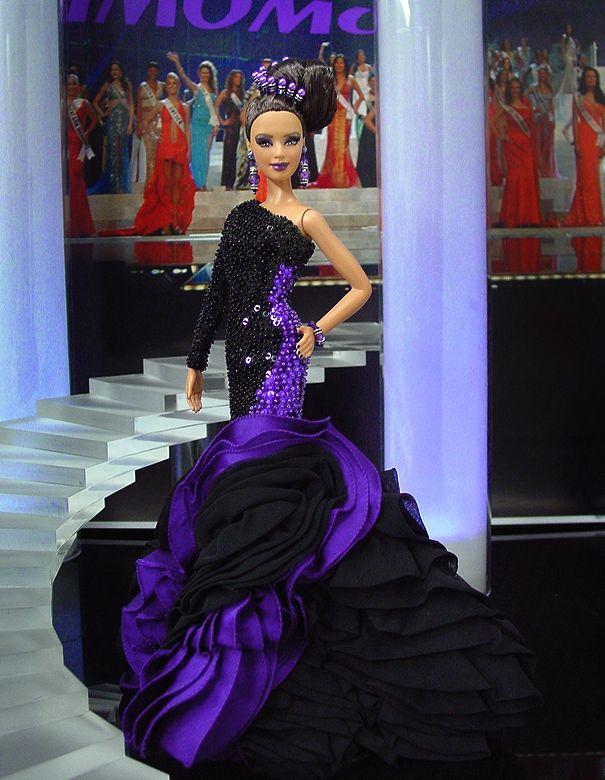 Miss Colombia 2012  - Vestido de noche inspirado en el diseñador libanés Georges Chakra - Alta Costura Otoño 2012