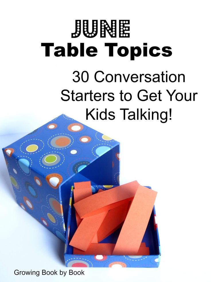 Welcome back to our hugely popular series- Table Topics. Each month conversation starters are shared with you to use at the table to get your kids talking. The June table topics are all centered around FOOD! All you need to do is print the June Table Topics (Food)(strips)June Table Topics (card format). Cut them apart. …