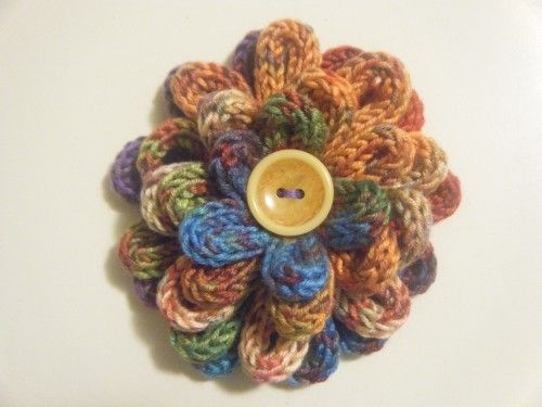spool knitted flower