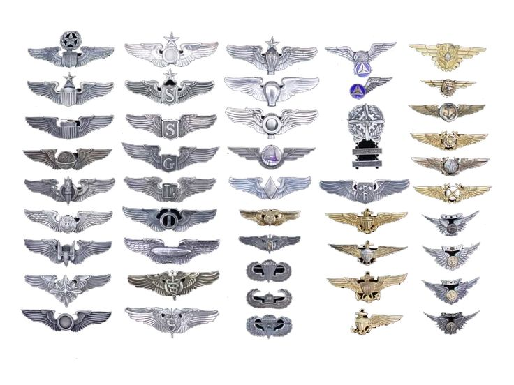 Army Aviator Wings Embroidery Design