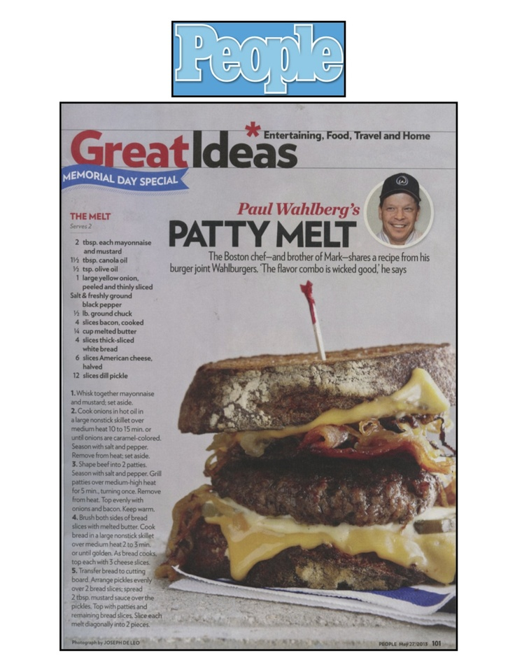 """Yum! """"The Melt"""" from Chef Paul Wahlberg of Wahlburgers!"""
