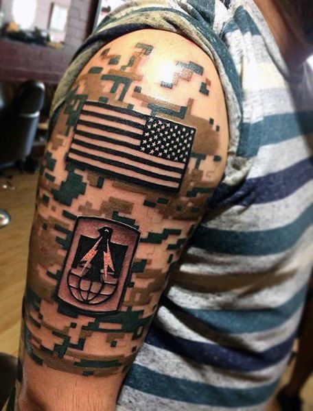 Male Military Tattoo Designs On Arm
