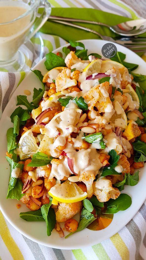 Karnabaharlı Nohut Salatası