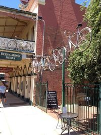 Great way to recycle a stack of older bikes. In historic Rutherglen, country Victoria This is the Victoria Hotel