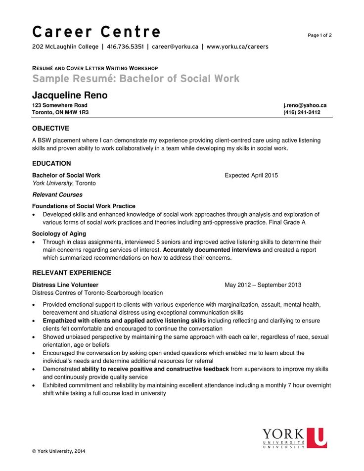 Resume for social Work Very Good 14 Best social Worker
