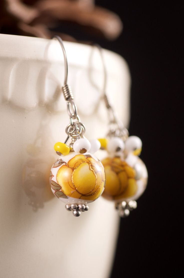 17 best crafts - jewelry - focal bead earrings images on pinterest