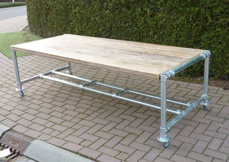 Pipe Table made with Kee Klamp pipe fittings