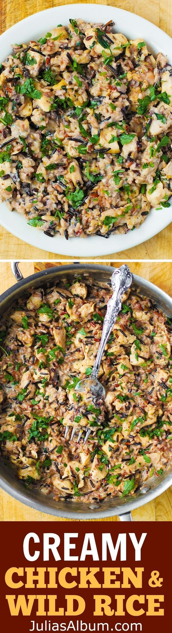 Creamy Parmesan Chicken & Wild Rice Recipe - like casserole but made on a stove-top.