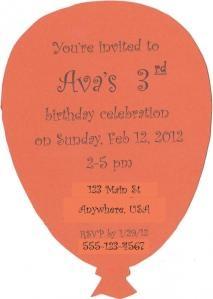 Balloon Invitation