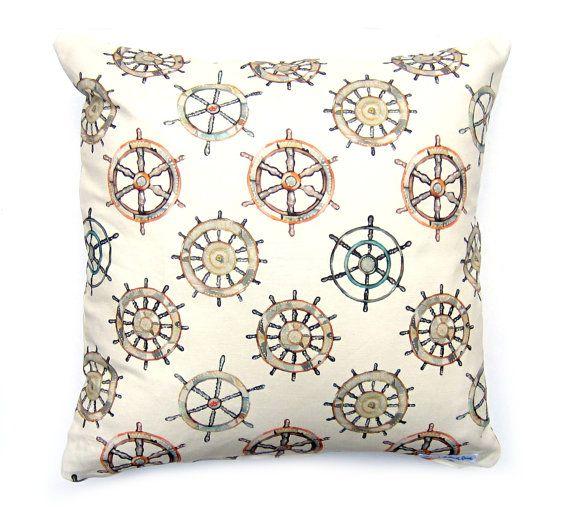 Nautical Cushion Cover by Emma Allard Smith