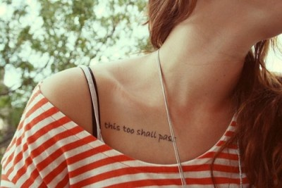 Good place for a tat... May be better if went with curve of the collarbone