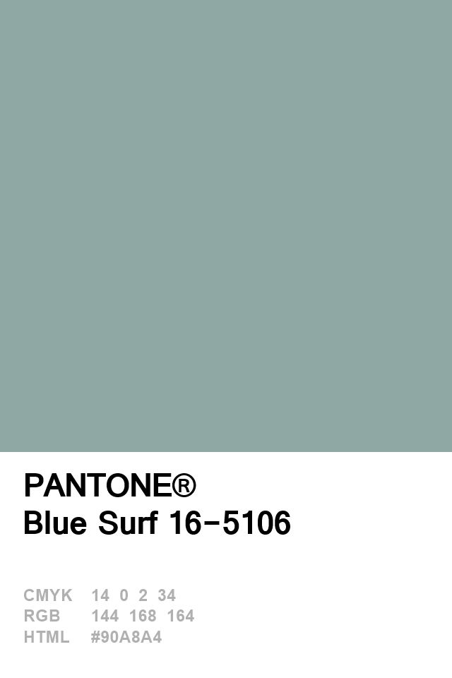 Pantone Blue Surf 16-5106 Colour of The Day 22 January