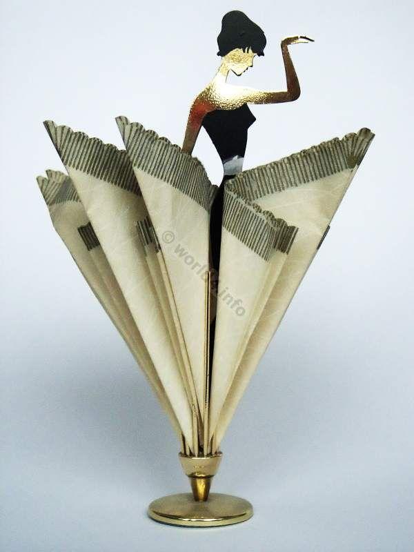 table decoration ballerina napkin holder 1950s midcentury design germany