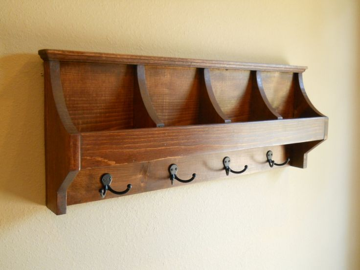 Furniture gorgeous wooden wall mount coat hanger design inspiration
