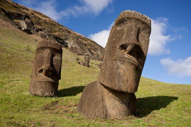 I Moai raffigurano forse gli antenati degli abitanti di Rapa Nui.