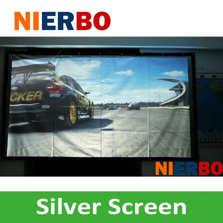 Wholesale 3D Portable Silver Projection Screen 16:9/4:3 180Inches HD Projector Accessory Screen fpr all projectors //Price: $330.09//     #shopping