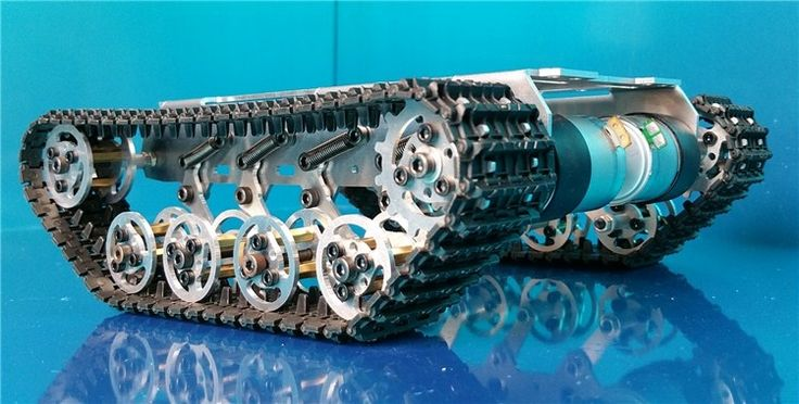 171.00$  Watch now - http://alicxc.worldwells.pw/go.php?t=32575506464 - Smart tank bottom crawler chassis damping for DIY robot 171.00$