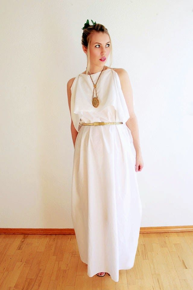 Wear The Canvas: Easy Last Minute Costume - Greek Goddess