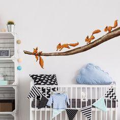 Ideal Wandtattoo Wald Babyzimmer Einh rnchen halt dich fest