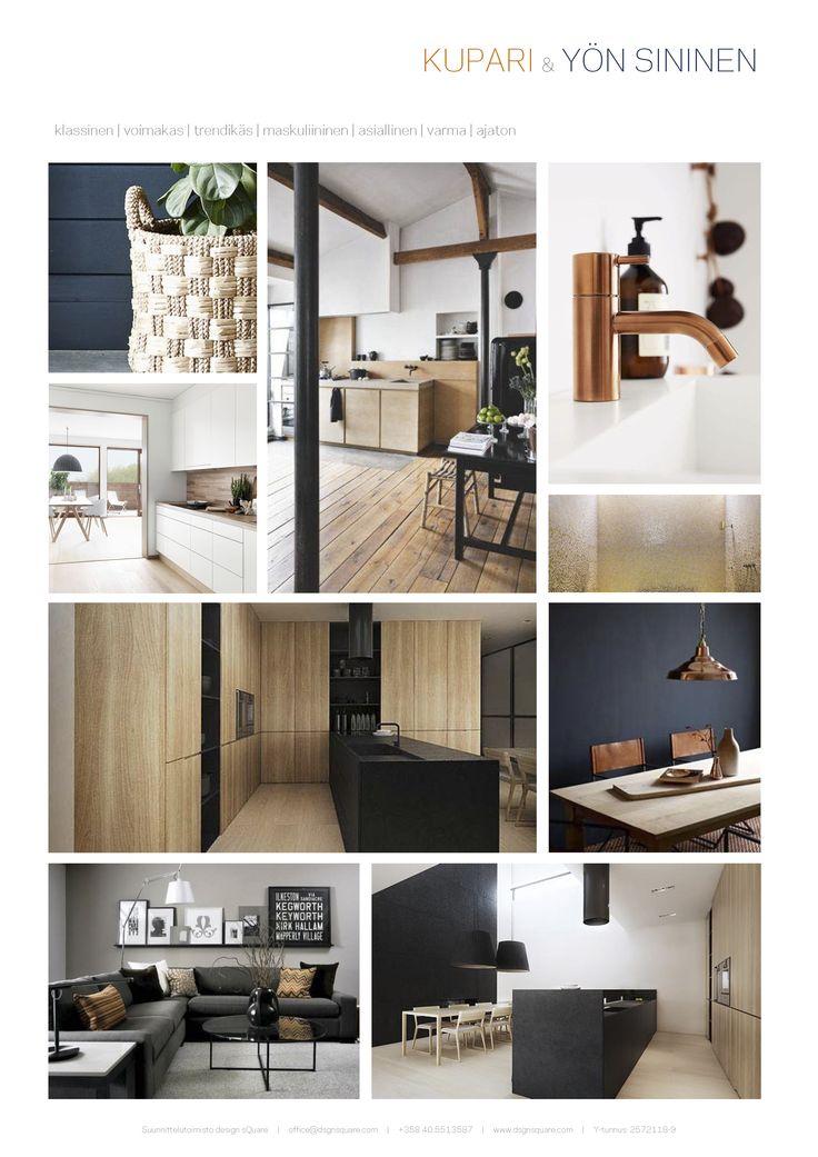 KUPARI & YÖN SININEN  Väriteema Villa Kapee Vantaa #asuntomessut2015 @ArkkitehtitoimistoJ10 @Oliikainen @designsQuare