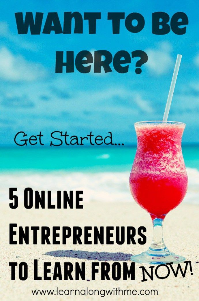 Are you stuck in a rut? Do you need a career pivot but don't know where to start? Check out these 5 Online Entrepreneurs to Learn from right now