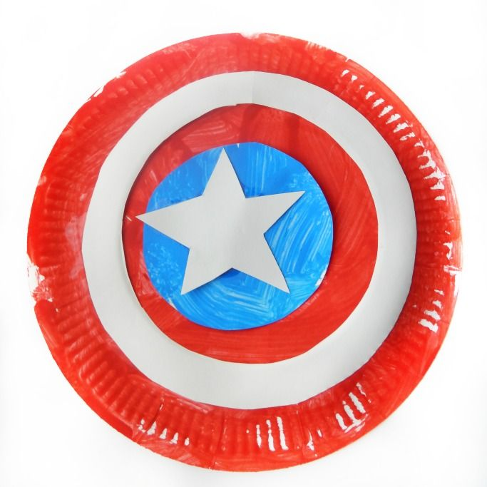 This Captain America shield DIY uses paper plates to make a toy that kids will love to play with. A superhero craft idea that's great for dressing up!